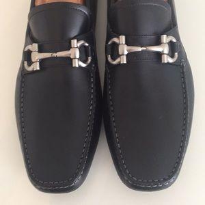 Authentic Ferragamo Black Parigi Loafers